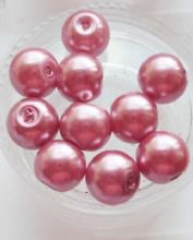 Pearl Glass Beads 8mm. Dusky Pink x 10